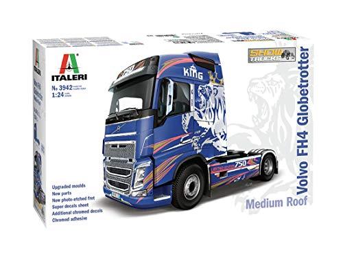 Outletdelocio. Italeri 3942. Maqueta Camion Volvo FH4 Globetrotter Show Truck. Kit de Montaje. Escala 1/24