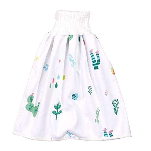 nlgzklsh Cómoda falda de pañales para niños 2 en 1, impermeable, superabsorbente, a prueba de fugas, lavable, para bebé