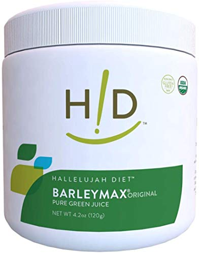 Hallelujah Diet Organic BarleyMax - Barley and Alfalfa Grass Juice Powder, Original, 4.2oz (60 Servings)