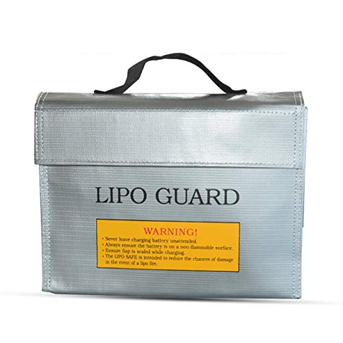 Ashley GAO Bolsa de protección de batería de litio portátil a prueba de explosiones bolsa a prueba de fuego RC Lipo batería seguro bolsa de protección de carga