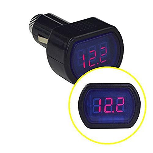 Voltímetro de coche digital. Monitor de voltaje LCD para encendedor. Válido en todo tipo de vehículos. Universal