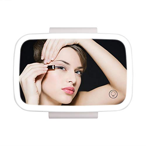 Car Visor Mirror Car Makeup Mirror with LED Lights for Car Truck SUV Rear View Mirror Sun-Shading Cosmetic Mirror Clip on Vanity Mirror Automobile Make Up Mirror with Touch Screen