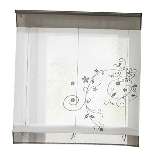 Petite Fen/être FLAMEER Attache Florale De Beaut/é /à lombre du Rideau Romain # 1 Blanc 80x100cm Voile