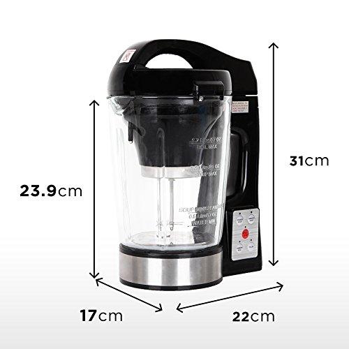 Duronic BL78 elektrischer Standmixer/Suppenbereiter / Babynahrungszubereiter/Thermalmixer und Kochmixer mit 1,2L Glasbehälter – Suppe auf Knopfdruck kreiert - 3