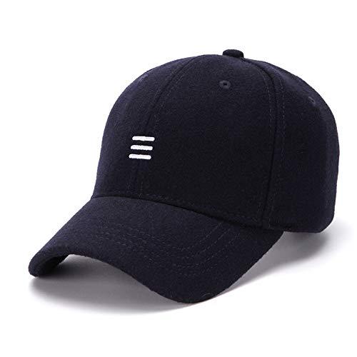 YUXIAOYU Gorra de béisbol Bordada de Color sólido Moda Conveniente Transpirable Sombrero para el Sol al Aire Libre Corriendo Escalada Correa Ajustable,Azul