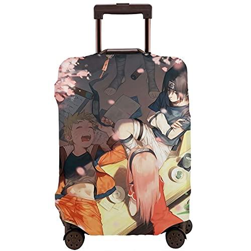 Anime Naruto Sasuke - Funda para maleta unisex, resistente al desgaste, protección contra el equipaje, con funda de desmontaje, funda