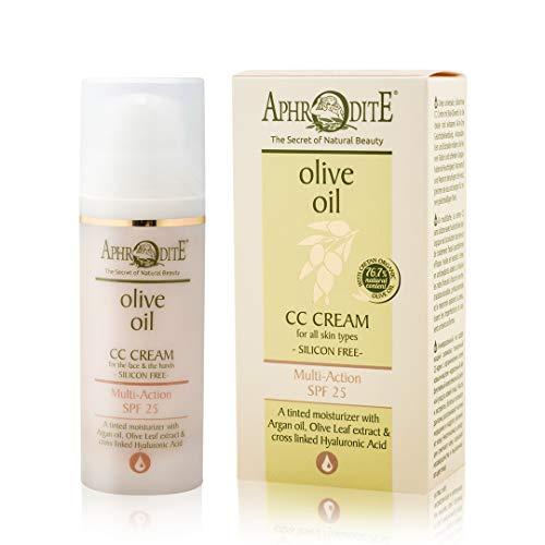 Aphrodite Multi-Benefit CC Creme. Getönte Creme mit 25 SPF zum Schutz und zur Hydratation mit Arganöl und Vitamin E (50 ml / 1,70 fl oz)