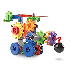 "DISCOVER: Invite ""little engineers"" to explore a world of building possibilities while developing critical thinking and problem solving skills; turning and spinning gears add a layer of action and interactivity to completed creations DEVELOP: Boost f..."
