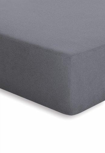 Schlafgut 004-128 Frottee Stretch Spannbetttuch / 140-150 x 200 cm, graphit