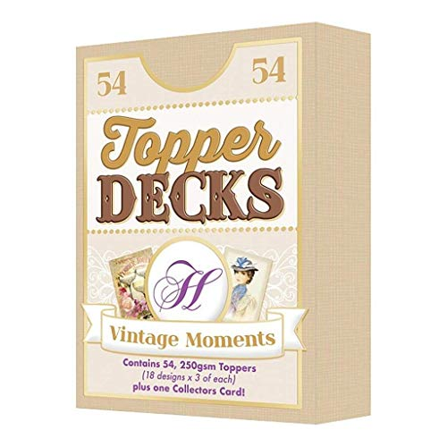 Hunkydory Topper Deck - Vintage Moments - 54 Images for Card Making DECK004