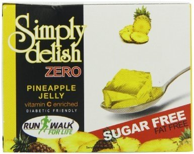 Simply Delish, Sugar-Free Jelly Dessert - Vegan, Gluten and Fat-Free, Pineapple Flavour - Pack of 24, Keto Friendly Sweets