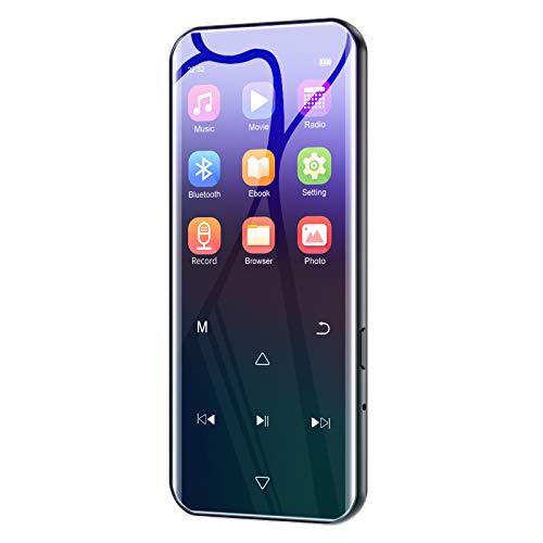 Lettore MP3 con Bluetooth 4.2, 2.4 Pollici Schermo 16GB Lettori MP3 de, Lossless HiFi Sound lettore musicale con cuffie cablate, Radio FM, Registratore Vocale, Supporto espandibile fino a 128GB