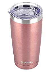 commercial 20 oz SUNWILL mug with lid, vacuum insulated travel mug made of stainless steel, … coffee thermos starbucks