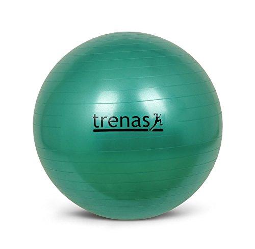 Berstsicherer Gymnastikball - Sitzball - 65 cm - Grün - mit Pumpe