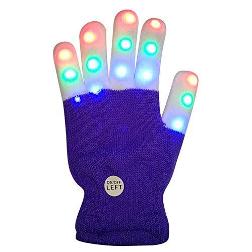 PowerBH 1 STÜCK kinder Festival Spielzeug Leuchtende Handschuhe Neue Warme Farbe LED-Licht Finger Spielzeug Festival Party Supplies