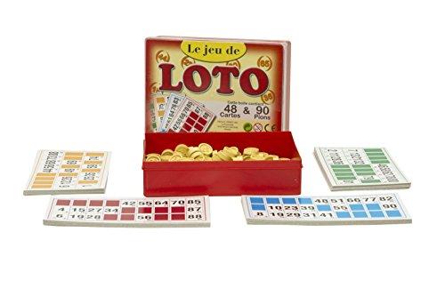 Ferriot Cric Sa - 1050 - Coffret Loto - 90 Pions - 48 Cartes