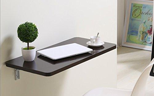 Craft bakmuur opknoping eenvoudige opklapbare tafel computer tafel bijzettafel, een variëteit, zwarte walnoot kleur