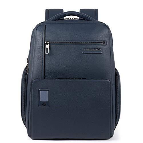 Piquadro Akron rugzak leer 43 cm laptopvak, blauw (blauw) - CA5104AO-BLU