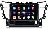 Navegación GPS para Toyota Alphard 2015, Android 9.0 Double DIN Sat Nav 9 Pulgadas Pantalla táctil Reproductor Multimedia Receptor de Video Radio estéreo para automóvil WiFi 1G + 16G