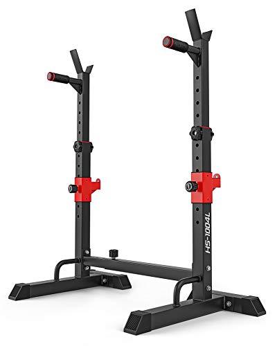 Hop-Sport verstellbare Hantelablage für Langhantel HS-1004L – Squat Rack Kniebeugenständer bis 250kg belastbar