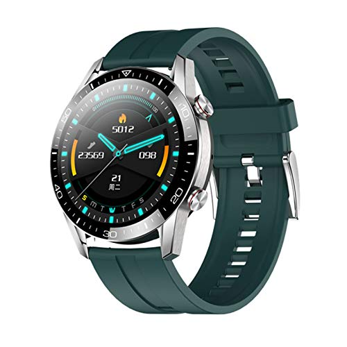 JXFF Smart Watch Men IP67 Fitness Tracker Ritmo cardíaco Presión Arterial Pedómetro para Android iOS Deportes SmartWatch TK28,C