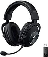 Logitech G PRO X Wireless Lightspeed Gaming Headset with Blue VO!CE Mic Filter Tech, 50 mm PRO-G Drivers, and DTS...
