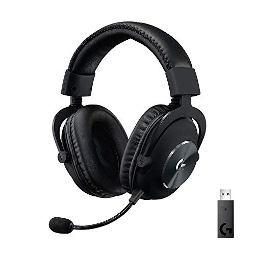 Logitech G PRO X Wireless LIGHTSPEED Gaming Headset with Blue VO!CE Mic Filter Tech, 50 mm PRO-G Drivers, and DTS Headphone:X 2.0 Surround Sound