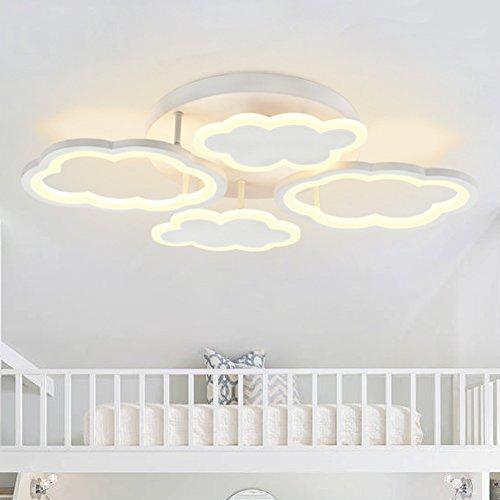 Modern LED Deckenleuchte Kreative Wolken Kinderlampe Junge Kinderzimmer Deckenlampe Acryl Leuchte Dekor Lampe Wohnzimmer Schlafzimmer Esszimmer Arbeitszimmer Lampe Ø66cm 40W,Dimmable