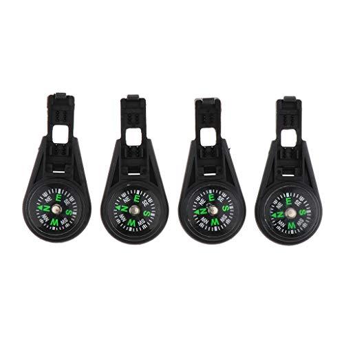 Générique 4 Packs en 1 Survival Compass Zipper Pulls Cordons Cordes Extrémités