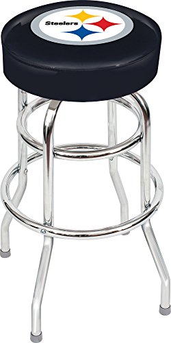 "Imperial Officially Licensed NFL Furniture: Swivel Seat Bar Stool, Pittsburgh Steelers Team Color, 30"" H"""
