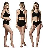 Bambody Absorbent Panty: Period Panties/Maternity & Postpartum Underwear (SMALL, 3 PACK (BLACK))