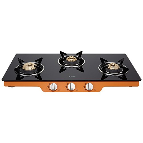 Elica Glass 3 Burner Auto Ignition Gas Stove (Patio ICT 773 Org AI)