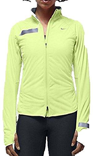 2df3154f59cb Nike Women s Dri-Fit Element Shield Full Zip Running Jacket LIME ...