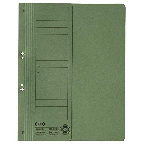 Preisvergleich Produktbild ELBA 100551879 Ösenhefter Smart Line halber Vordeckel 50er Pack mit kaufmännischer Heftung 250 g / m² Karton grün