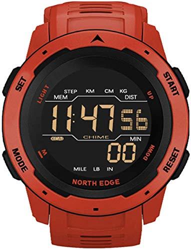 Reloj Inteligente Relojes Deportivos Dual Time Podómetro Reloj Despertador Impermeable Reloj Digital Reloj-C