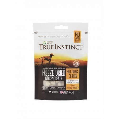 NATURES - True Instinct Chicken Freeze Dried Treats for Adult Dogs - 40g - EU/UK