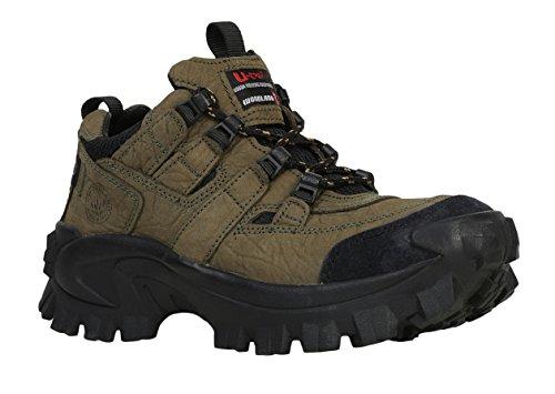 Woodland Men's Olive Green Leather Sneaker-8 UK (42 EU) (G 40777CMA)