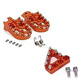 Xuefeng Pedales de palillón Ajustables de la Motocicleta para Husqvarna TC TE FC FC FS 65 85 125 250 300 350 350s 450 501 501 (Color : Set Orange)