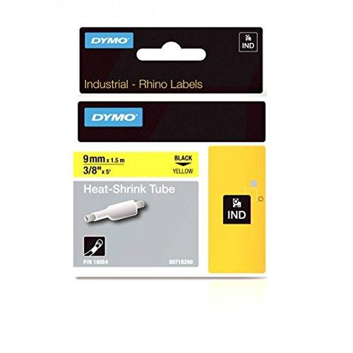Dymo Rhino Heißschrumpfschlauch IND 9mm x 1,5m Ø: 1,73-3,73mm schwarz auf gelb