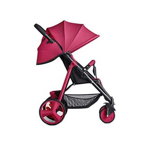 Best Review Of Easy Newborn Children Can Sit Lying Pushchairs Shock Absorbers One-Click Folding Push...
