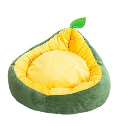 Judyd Creative Fruit-Shaped Pet Sleeping Nest Lovely Warm Dog House Cat Litter Cama para Mascotas, Verde Nido para Dormir en Forma de Fruta, Verde