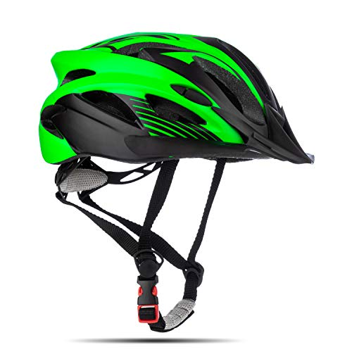 MOKFIRE Junior Kids Bike Helmet - Youth Cycling Helmet Mountain Bike Adjustable Dial Removable Visor Boys Girls Age 5-13 Years Old (54-57CM)