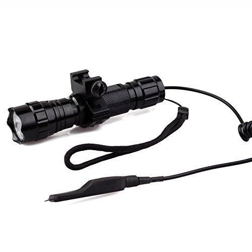 L'lysColors L-S1 CREE T6 LED 1000LM torche tactique Lumière Avec Mount and Pressure Switch Pour Pica Tinny Quad ferroviaire Rifle / Shotgun