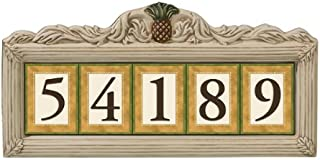Grasslands Road Estate Pineapple 3 by 4-Inch Build Your Address Plaque 5 Digit Magnetic Number Tile Holder with Stakes