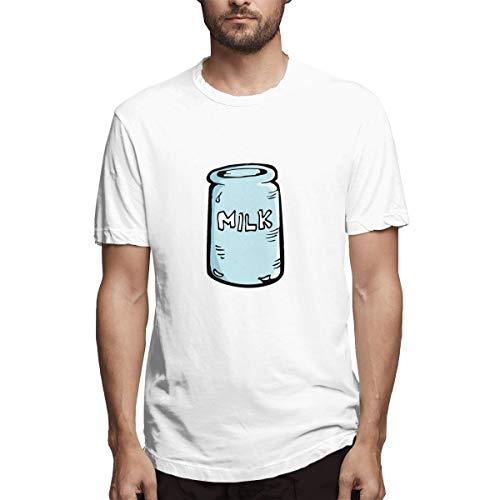 Shenigon Milk House Men's Fashion Short Sleeve Shirt White 29