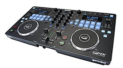 Gemini GMX Series Professional Audio DJ Multi-Format USB, MP3, WAV and DJ Software Compatible Media Controller System with Touch-Sensitive High-Res Jog Wheels by Gemini