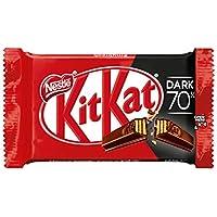 Nestlé KitKat Chocolate negro 70% - Barritas de chocolate negro, Snack de chocolate 24x41,5g