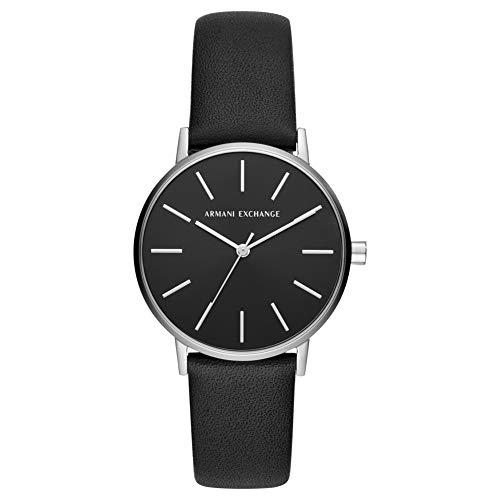Armani Exchange Damen Analog Quarz Uhr mit Leder Armband AX5560