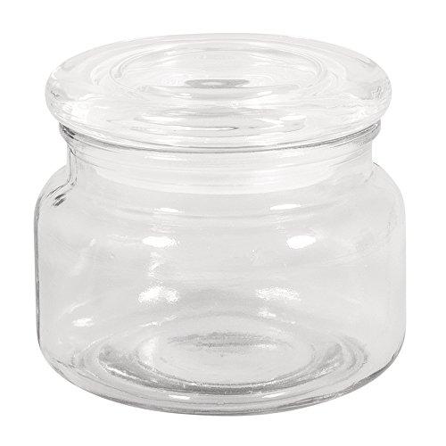 Rayher 46046000 - Tarro con tapa de cristal (10 cm de diámetro, 8 cm, 320 ml)