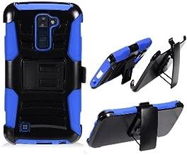Phone Case for Straight Talk LG Premier 4G LTE Blue Edge Cover Kickstand Combo Holster Belt Clip For Tracfone Lg K10 4g LTE (T-Mobile)